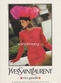 1990 Yves Saint Laurent Rive Gauche  Paris Print Ad