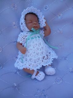 Polymer Clay baby in gorgeous outfit
