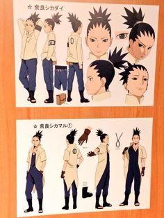 Shikamaru and Shikadai Tenten Y Neji, Naruto And Shikamaru, Boruto And Sarada, Shikadai, Shikatema, Naruto Sasuke Sakura, Anime Naruto, Naruto Art, Manga Anime