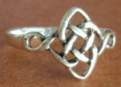 925 STERLING SILVER DAINTY CELTIC KNOT RING - select your size in Jewelry & Watches   eBay