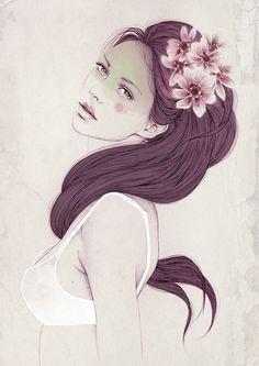 Illustration compilation  by Mercedes deBellard, via Behance
