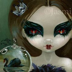 Faces of Faery #201 Black Swan