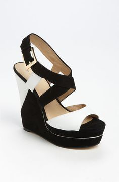 Black & White Suede Sandal