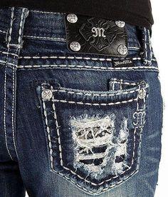 Women's MISS ME Low Rise Blowout Pocket Boot Stretch Jean 24 X 29 #MissMe #BootCut