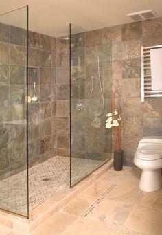 Open shower without door - Portfolio - Interior Designer Seattle | Christine Suzuki, ASID LEED AP