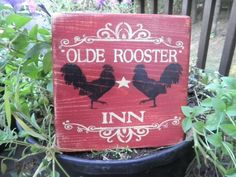 primitive country rooster sign,kitchen decor,wood sign, red rooster, primitive home decor, kitchen decor rustic home decor country home