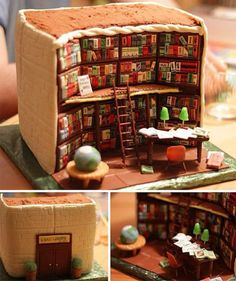 Book lovers' birthday cake