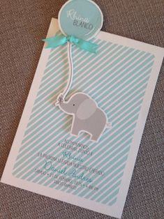 Boy baby shower invitation elephant in English ; Elephant Party, Elephant Birthday, Elephant Theme, Elephant Baby Showers, Baby Elephant, Idee Baby Shower, Bebe Shower, Baby Shower Parties, Baby Shower Themes
