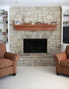 Stacked Stone Fireplace Ideas beachwalk slate ledgestone - fireplace   for the home   pinterest