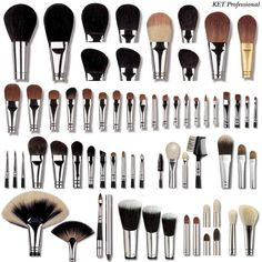 What each type of makeup brush is used for