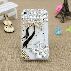 bowknot  iphone 5s case Bling iphone 4s case by casecase2014