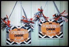 Personalized Cheer Door Signs Rebelchickdesigns
