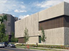 Clyfford Still Museum by Allied Works Walls of textured concrete form the primary building envelope, interior walls and structural system.