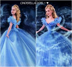 Lily James as Cinderella 2015