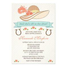 Kentucky Derby Bridal Shower Invitations | KENTUCKY DERBY HAT BRIDAL SHOWER INVITATION