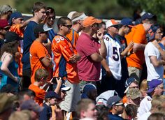At the team's first training camp practice on Thursday, 4,372 fans got their first glimpse of the 2012 Denver Broncos.
