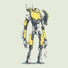 198 2016 another just standing around... #mech #mecha #robot #sketch…