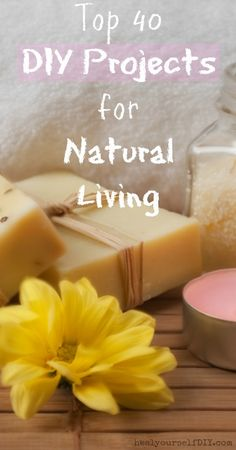 Top 40 DIY Projects for Natural Living  www.healyourselfDIY.com                                                                                                                                                                                 More