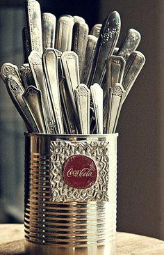 Vintage silverware...patina.....comfort....