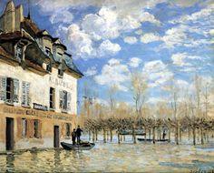 Alfred Sisley - Inundación, Port-Marly