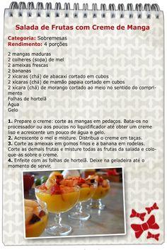 Que tal Salada de Frutas para esta tarde de sol? Confira o Bloquinho do Anonymus!