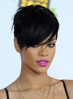 visit for more Convenient Black Straight Cropped Rihanna Wigs Rihanna Red Wigs For Sale The post Convenient Black Straight Cropped Rihanna Wigs Rihanna Red Wigs For Sale appeared first on kurzhaarfrisuren. Short Quick Weave Hairstyles, Oblong Face Hairstyles, Short Pixie Haircuts, Cut Hairstyles, Hairstyle Ideas, Asymmetrical Haircuts, Fringe Hairstyle, Frontal Hairstyles, Style Hairstyle