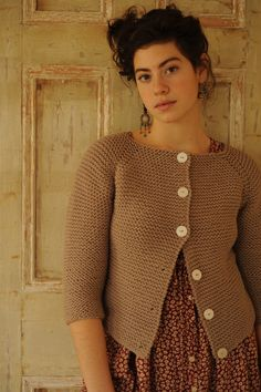 garter stitch cardigan. so simple!