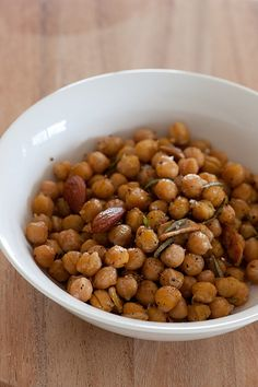 Warm chickpea salad with rosemary and garlic: 1 clove garlic, peeled ...