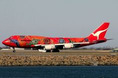 Fleet - The second aircraft to wear the Wunala Dreaming colour scheme, a Boeing New Zealand Flights, Aboriginal Artwork, Air New Zealand, Find Cheap Flights, Unusual Art, Commercial Aircraft, Boeing 747, Jet, The Incredibles