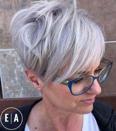 Silver Edgy Pixie Cut