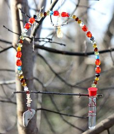 Hummingbird Swing with Feeder  The Scarlet by BeeFreeHummingbirds