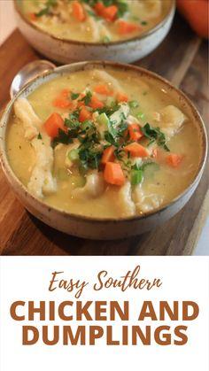 Chicken Dumpling Soup, Dumplings For Soup, Chicken Soup Recipes, Healthy Soup Recipes, Cooking Recipes, Homemade Chicken Soup, Pork Soup, Chicken Rice Soup, Easy Chicken Pot Pie