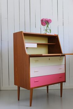 Home Office Space Ideas Retro Furniture, Mid Century Modern Furniture, Home Office Furniture, Home Office Decor, Upcycled Furniture, Furniture Projects, Furniture Makeover, Home Furniture, Office Ideas