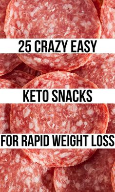 A list of 25 easy-to-make (or throw together) Keto snacks in 2 minutes or less. Super simple Keto snacks that you can take to work or school for cravings!