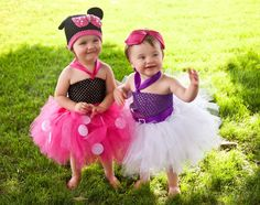 COMPLETE OUTFIT Daisy Duck Tutu Dress Big Bow FEATHER Tail Tutu Halloween Costume Baby Girls Toddler BIg Girls Tutu Dress. nb to 5T. Purple White Feather Pink Minnie Mouse Pair Siblings Twins ideas unique Family outfits by HandpickedHandmade