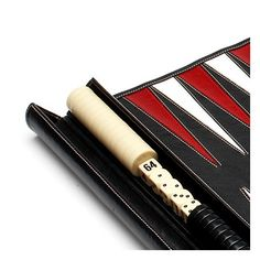 Travel Backgammon Set in Smooth Black from Aspinal of London