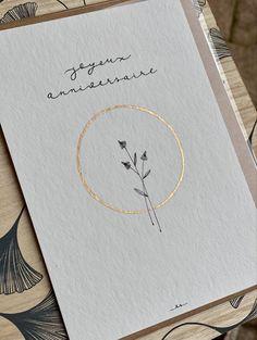 Cute Cards, Diy Cards, Birthday Wishes, Birthday Cards, Brush Pen Art, Handwritten Logo, Karten Diy, Scrapbook Journal, Motif Floral