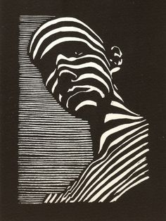 Felix Lucero, Blind Curve, linocut, inches, made at San Quentin State Prison. Kunst Inspo, Art Inspo, Art And Illustration, Arte Linear, Tableau Pop Art, Arte Obscura, Psychedelic Art, Art Sketchbook, Art Forms