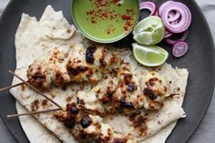 Murgh Malai Tikka -Chicken cooked in a marinade with yoghurt, cheese, coriander and chillies
