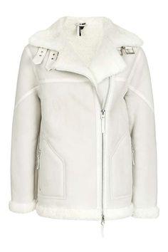 **Real Shearling Biker Jacket