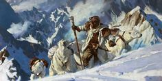 Above The Timberline, 2009. Gregory Manchess, Massive Black Video, oil on linen in: Illustration Now! 5 by TASCHEN