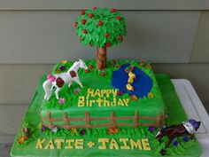 2 Horses cake
