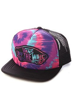 f628179da11702 Vans Hat Transport Trucker Tie Dye in Pink Purple Cute Beanies