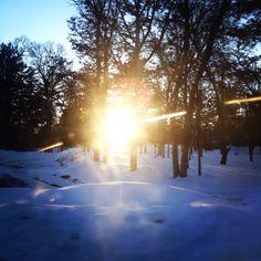 BEAUTIFUL Snowy Sunset