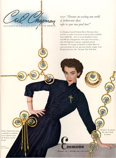 Ceil Chapman for Emmons #fashion #jewelry