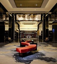 The Ritz Carlton Hotel lift lobby - West Kowloon
