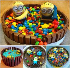 Minion Kit Kat Cake