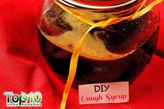 DIY cough syrup with ginger, honey and lemon