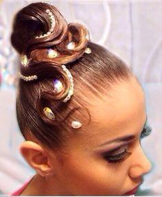 Ballroom #Hairstyle - Kinda looks like an octopus...