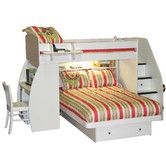 Sierra Twin Over Full L Shaped Bunk Bed With Desk And Storage